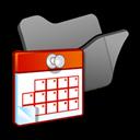 Black, Folder, Scheduled, Tasks icon