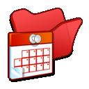 tasks, folder, red, scheduled icon
