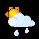 sun, lightcloud, rain icon