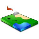 sport, golf, green icon