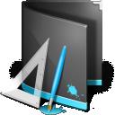 Designs Folder Black icon