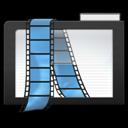 dark, video, folder icon