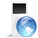 nanoweb, ipod, mp3 player icon