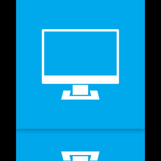 computer, mirror icon