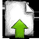 upload, file icon
