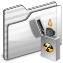 Burnable Folder white icon
