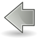 left,grey,previous icon