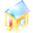 xmas, house, building, home icon