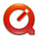 red, quicktime icon