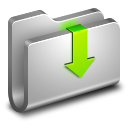 Downloads Metal Folder icon