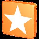 bookmark, favorite, fav, orange, favourites, favorites, mandarine, mandarin, star, tangerine icon