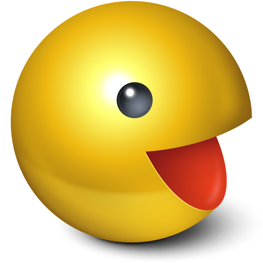 face, gaming, pacman, smiley, cute, emot, game, yellow, emotion, ball icon