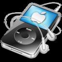 ipod video black apple icon