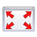 full screen, window, fullscreen, expand icon