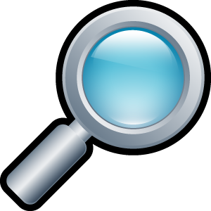 magnifying, glass icon