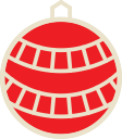 decoration, ball, christmas, xmas icon