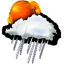 sun rain icon