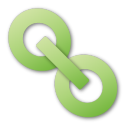 green, hyperlink icon