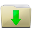 beige folder downloads icon