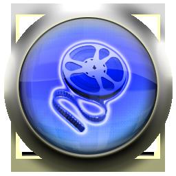 blue, movieroll icon