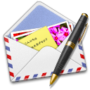 Airmail, Pen, Photo icon