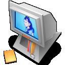 desk, tos, computer, pring icon