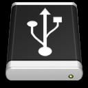 black, usb, drive icon