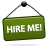hire, me, sign icon