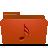 music, red, folder icon
