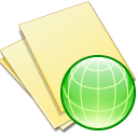 web, file, paper, yellow, document icon