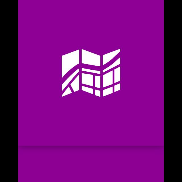 window, mirror, map icon