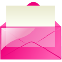 Mail pink icon