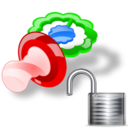 unlock, pacifier icon