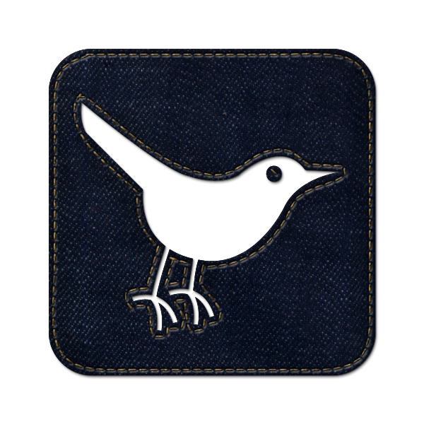 sn, social network, social, square, denim, twitter, animal, jean, bird icon