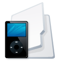 black, folder, ipod, mp3 player icon