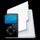 folder,ipod,black icon
