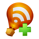 plus, add, rss, feed, subscribe, ballon icon