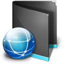 Sites Folder Black icon