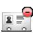 vcard, delete icon