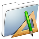 graphite, applications, smooth, folder icon