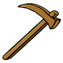 Hoe, Wooden icon