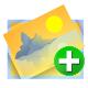 add, image, upload image icon