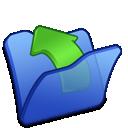 parent, folder, blue icon
