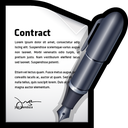 contract, write, edit, document icon