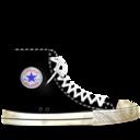 converse,black,dirty icon