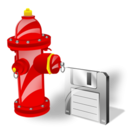 Fire, Plug, Save icon
