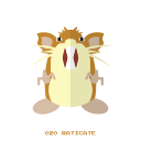 kanto, raticate, normal, pokemon icon