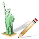 write, edit, estatuadelalibertad, writing icon