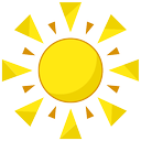 summer, beach, sun icon