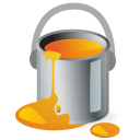 orange, color, painting, paintbucket, draw, paint icon